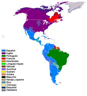 English: Languages of America Español: Lenguas...
