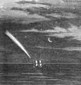 Illustrirte Zeitung (1843) 04 015 1 Komet gesichtet von Capitain G Stains auf der William Fulcher von Sidney kommend.PNG