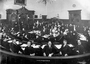 Toronto City Council - The inaugural meeting of the newly elected Toronto City Council in January 1911.