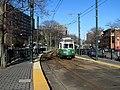 Inbound train at Washington Square station, April 2016.JPG