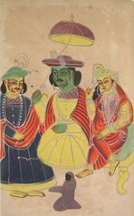 Rama and Sita Enthroned with Lakshmana and Hanuman Attending