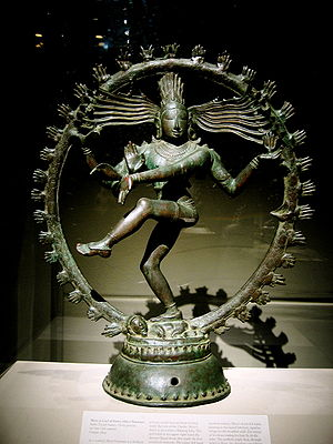 Bronze Chola statue depicting Shiva dancing as...