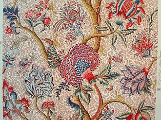 Mordant - A French Indienne, a printed or painted textile in the manner of Indian productions, which used mordants to fix the dyes.