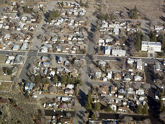 Independence, California - Independence from the air.