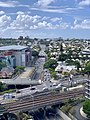 Inner City Bypass, Brisbane seen from the top of 135 Coronation Drive, in March 2019.jpg