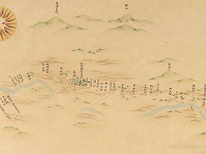 Nagaoka Domain - Map of Nagaoka Domain area from Dai Nihon Enkai Yochi Zenzu