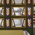 Interieur hoofdentree, glas-in-loodramen, detail - Wageningen - 20350501 - RCE.jpg