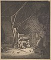 Interior of a Barn with Mother and Two Children, Right in Front a Pig (copy) MET DP826012.jpg