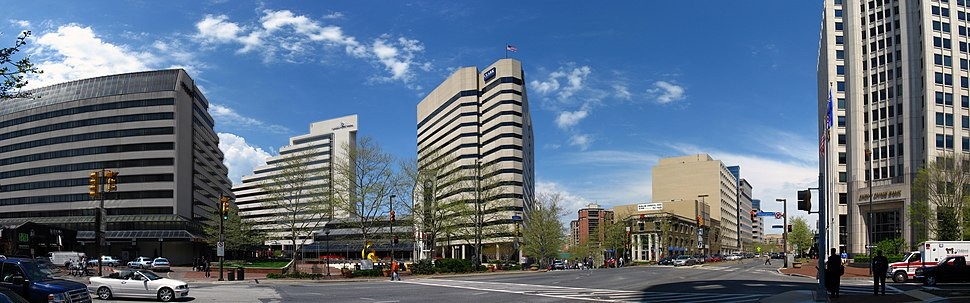 Intersection in Bethesda, Maryland