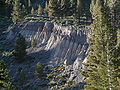 Inyo Crater Lakes - north crater - erosion on rim.JPG
