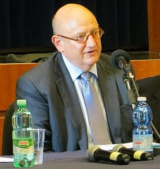 Ira Forman - U.S. Special Envoy for Monitoring and Combating anti-Semitism Ira Forman speaking at a panel discussion at John Cabot University on the 50th anniversary of the release of Nostra Aetate