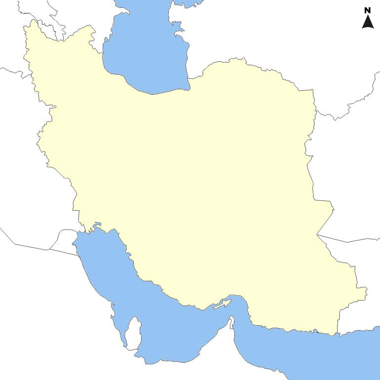 Iran-and-neighbors-blank-map 1-770x770