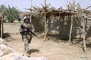 US military patrolling in Iraq