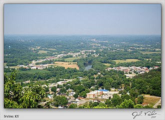 Irvine, Kentucky - Panorama from atop Rockhouse Mountain