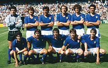 Cabrini (accosciato, al centro) nell'Italia vittoriosa ai Mondiali 1982