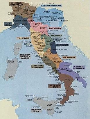 Regio x venetia et histria wikipedia - Regioni italiane non bagnate dal mare ...