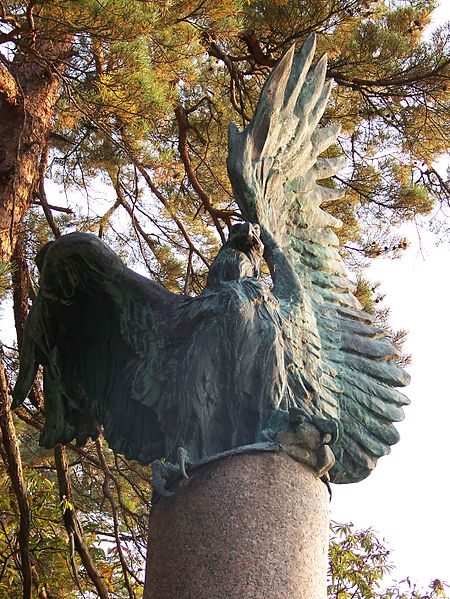 File:Italian eagle statue at Iimori-yama.JPG