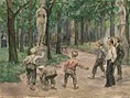 Ivan Vladimirov teenagers-games-in-the-imperial-garden-of-petrograd-1921.jpg