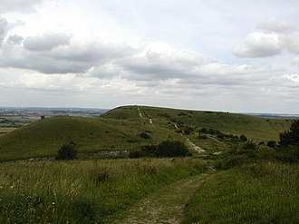 Ivinghoe Hills - View of Ivinghoe Beacon from Steps Hill
