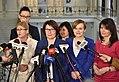 Iwona Arent Małgorzata Golińska Beata Mazurek Urszula Rusecka Anna Krupka Ewa Kozanecka Sejm 2017.jpg