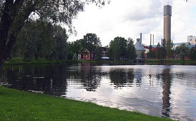 Näkymä Jämsänkosken paperitehtaalle