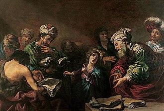 Claude Vignon - Christ among the doctors