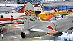 JASDF T-33A(71-5239) aft huselage section right rear top view at Hamamatsu Air Base Publication Center November 24, 2014.jpg