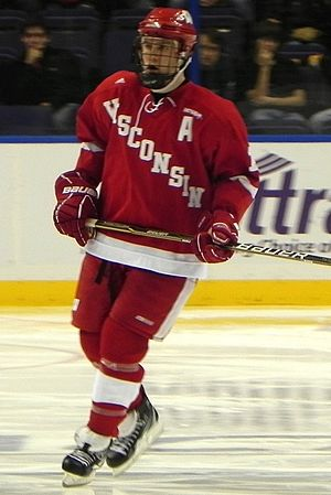 Wisconsin Badgers men's ice hockey - Jake Gardiner playing for Wisconsin (2010).