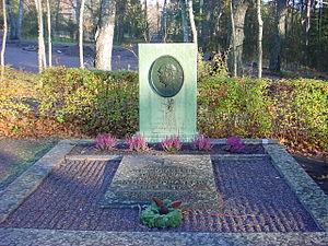 Johan Petter Johansson - J. P. Johansson's grave in Enköping