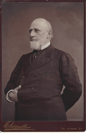 J. Gregory Smith - Undated cabinet photo by W. D. Chandler of St. Albans, Vermont