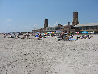 Jacob Riis Park beachfront park in New York City