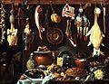 Jacopo Chimenti - Dispensa con trancio di cinghiale, pasticcio e anatra.jpg