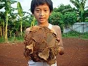 Typowa piłka do gry w piłkę nożną po wielu sezonach. Dżakarta