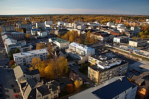 Ostrobothnia (region) - Image: Jakobstad from water tower 2