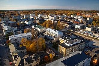 Ostrobothnia (region) - Image: Jakobstad from water tower 2