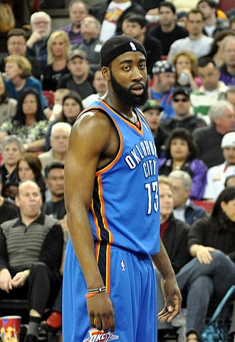 2009 NBA draft - James Harden was selected third by the Oklahoma City Thunder.