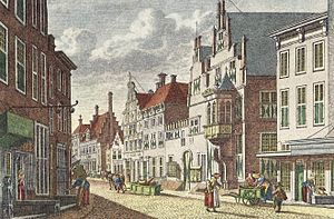 Jan Bulthuis - West-Indisch Huis in Middelburg by Jan Bulthuis, Westfries Museum