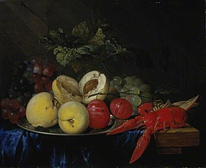 A Still-life with Fruit and Lobster