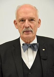 Janusz Korwin-Mikke Polish far-right politician and publicist