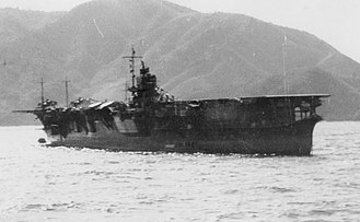 Japanese aircraft carrier Sōryū - Sōryū at anchor in the Kurile Islands, shortly before the start of the Pacific War