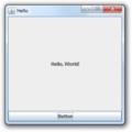 Java Swings Wikibook, Event Handling, example 1 screenshot.png