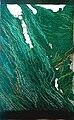 Jenny Hladíková, autorská tapiserie Gesto zeleně (1976), 270 x 140 cm, bavlna a vlna.jpg