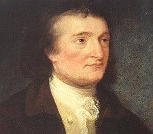 Jeremiah Chase - Portrait of Jeremiah Townley Chase by Robert Edge Pine. The portrait is located in the entrance hall of the Hammond-Harwood House in Annapolis, Maryland