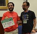 Jesús Leganés Combarro recibe su diploma en el IX CUSL.JPG