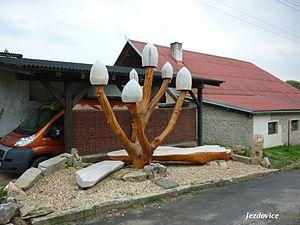 Jezdovice - Image: Jezdovice socha