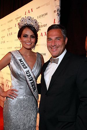 Michael Wildes - Wildes with Jimena Navarrete, winner of Miss Universe 2010, after Wildes obtained an O visa for Navarrete.