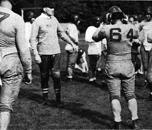 Jock Sutherland - Sutherland running a practice at Pitt in 1935