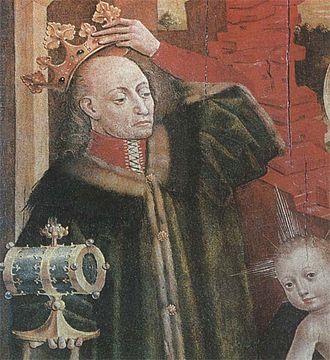 Ostrów Agreement - Presumed image of Jogaila, painted around 1475–1480, Kraków, Poland