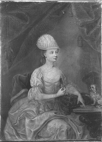 Countess Palatine Maria Franziska of Sulzbach - Image: Johann Georg Ziesenis Maria Anna Birkenfeld 1753