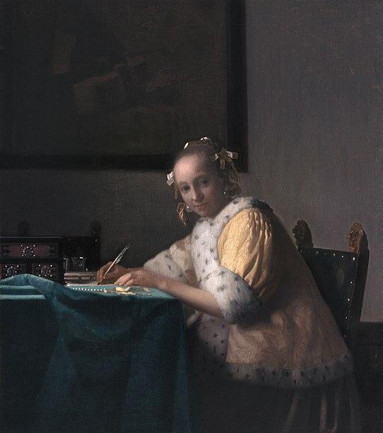 Vermeer van Delft Kobieta pisz�ca list